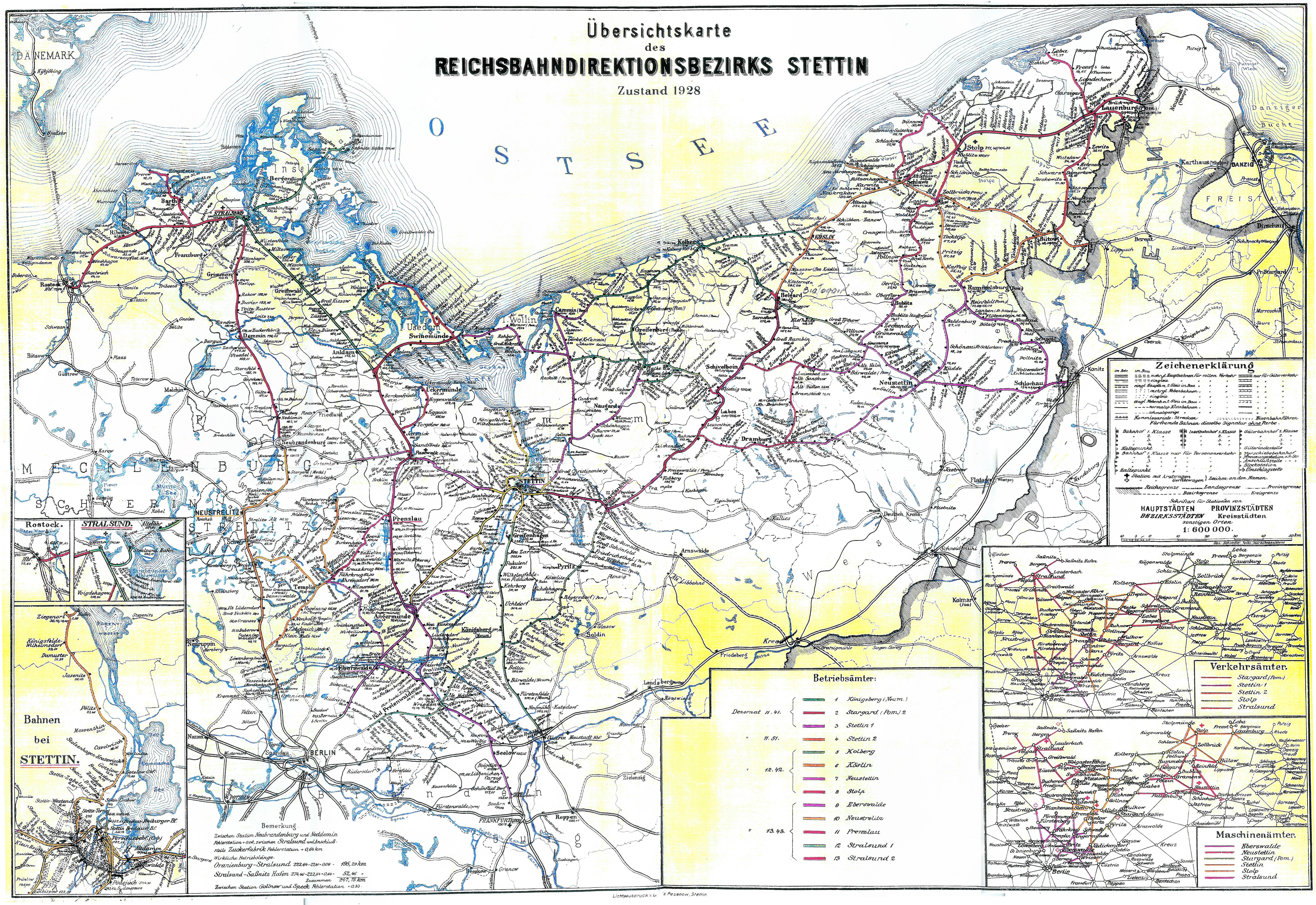 Mapa Kolejowa Pomorze